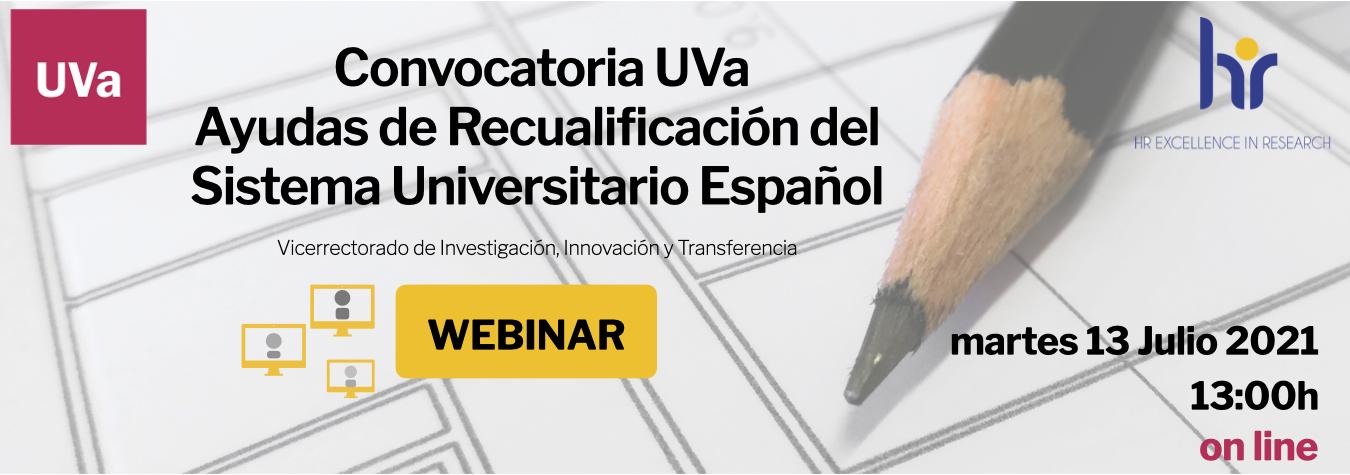 """Webinar """"Ayudas de Recualificación del Sistema Universitario Español"""""""